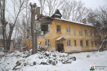 В Уфе начали восстанавливать дом, поврежденный от взрыва газа