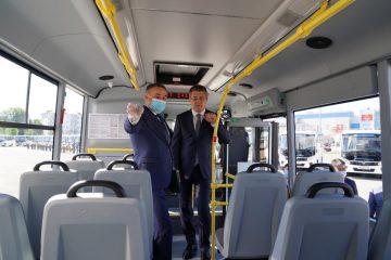 Глава Башкирии показал 55 новых автобусов «Башавтотранса»
