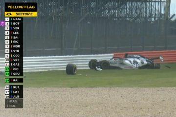 Даниил Квят попал в жесткую аварию на Гран-при Великобритании