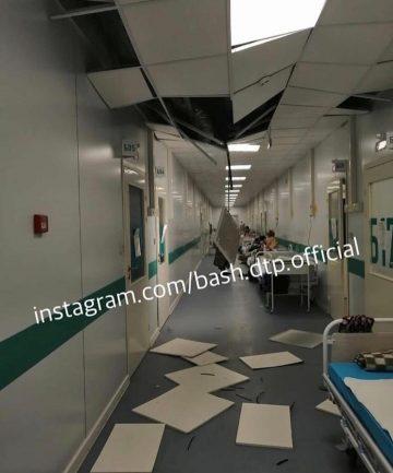 В новой инфекционной больнице под Уфой обвалился потолок