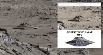На снимках NASA обнаружилось место крушения НЛО на Марсе