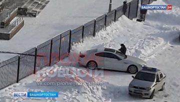 В Уфе родители пожаловались на женщину из BMW, которая перекрывает въезд в детсад