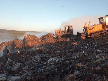 Жара и ветер стали причиной возгорания полигона ТКО вУфимском районе