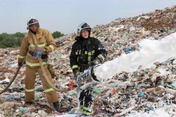 Под Уфой в Новых Черкассах снова произошло возгорание на мусорном полигоне