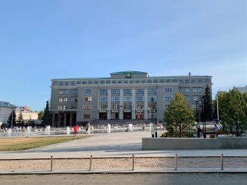 На Советской площади в Уфе запустили светомузыкальный фонтан